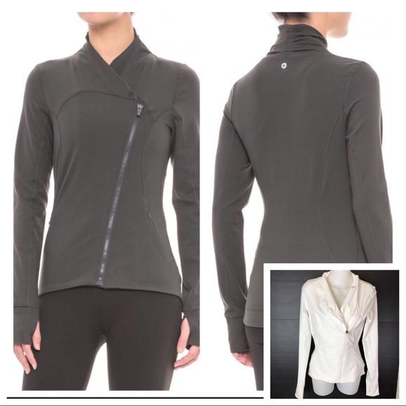 842b155604b86 90 Degree By Reflex Jackets & Blazers - 90 degree by Reflex White Zip up  Coat
